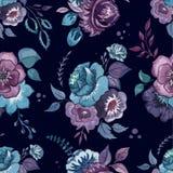 Bloemen, waterverf, patroon, behang, textiel royalty-vrije illustratie