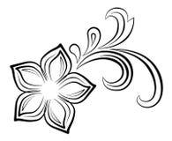 Bloemen werveling vector illustratie