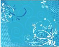 Bloemen wervelingsachtergrond Royalty-vrije Stock Afbeeldingen