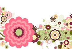Bloemen Wind stock illustratie