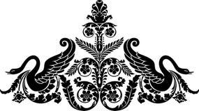 Bloemen zwaan Royalty-vrije Illustratie
