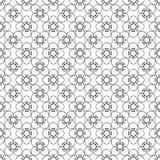 Bloemen zwart uitstekend patroon Royalty-vrije Stock Afbeeldingen