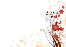 BloemenAchtergrond 3 van Grunge Royalty-vrije Stock Afbeelding