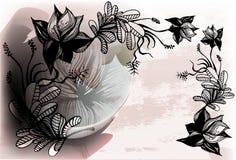 Bloemenachtergrond stock illustratie