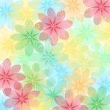 Bloemenachtergrond, bloemenpatroon Stock Afbeelding