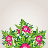 Bloemenachtergrond met Abstracte Papavers Royalty-vrije Stock Afbeelding
