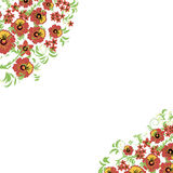 Bloemenachtergrond met bladeren, wervelingen Russisch traditioneel ornament Stock Foto