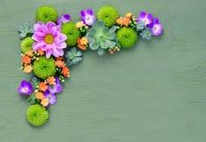 Bloemenachtergrond met een ruimte voor een tekst 2d Vector Royalty-vrije Stock Afbeeldingen