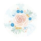 Bloemenachtergrond, pioen Royalty-vrije Stock Foto's