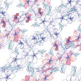 Bloemenachtergrond van gevoelige waterverfbloemen vector illustratie
