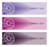 Bloemenachtergronden voor modern ontwerp Royalty-vrije Stock Afbeelding