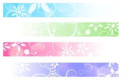 Bloemenbanners Stock Afbeeldingen
