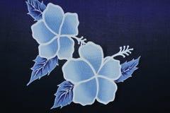 Bloemenbatikachtergrond Stock Fotografie