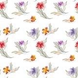 Bloemenbehang stock illustratie