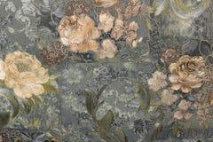 Bloemenbehang als achtergrond op de muur Royalty-vrije Stock Afbeelding