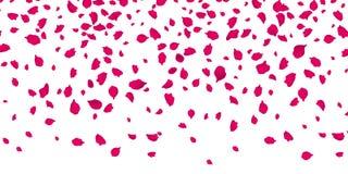 Bloemenbloemblaadjes die op vector transparante achtergrond vallen Royalty-vrije Stock Afbeelding