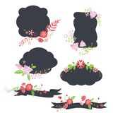 Bloemenbloemetiketten stock illustratie
