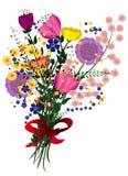 Bloemenboeketillustratie Stock Fotografie