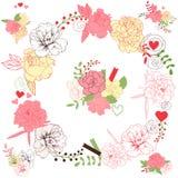 Bloemenboeketten Stock Afbeelding