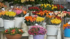 Bloemenboeketten voor Verkoop stock video