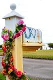 Bloemenbrievenbus Stock Afbeelding