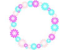 Bloemencirkel op een witte achtergrond Royalty-vrije Stock Afbeelding