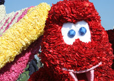 Bloemencorso Bollenstreek один из парадов цветка в Нидерландах и одно самых больших вариантов мира Событие Стоковое Изображение