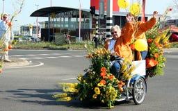 Bloemencorso Bollenstreek один из парадов цветка в Нидерландах и одно самых больших вариантов мира Событие Стоковое фото RF