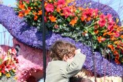 Bloemencorso Bollenstreek один из парадов цветка в Нидерландах и одно самых больших вариантов мира Событие Стоковое Изображение RF
