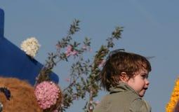 Bloemencorso Bollenstreek один из парадов цветка в Нидерландах и одно самых больших вариантов мира Событие Стоковые Изображения RF