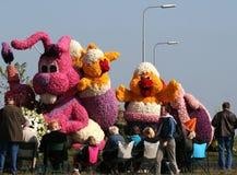 Bloemencorso Bollenstreek один из парадов цветка в Нидерландах и одно самых больших вариантов мира Событие Стоковая Фотография