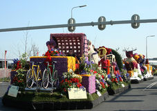 Bloemencorso Bollenstreek is one of the flower parades in the Netherlands and one of the largest editions of the world. The event Royalty Free Stock Image