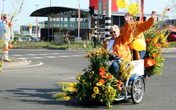 Bloemencorso Bollenstreek is one of the flower parades in the Netherlands and one of the largest editions of the world. The event Royalty Free Stock Photo