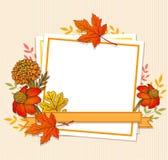 Bloemendalingskader met bladeren vector illustratie