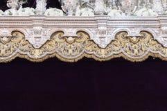 Bloemendecoratie en het zilveren in reliëf maken royalty-vrije stock afbeeldingen