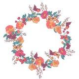 Bloemendiekroon van wildflowers wordt gemaakt Stock Afbeelding