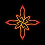 Bloemenembleemmalplaatje Schoon lijnen gestileerd teken vector illustratie