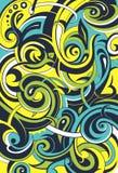 Bloemengraffitiabstractie Royalty-vrije Stock Afbeeldingen