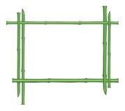Bloemengrens met bamboestam en exemplaarruimte Stock Afbeelding
