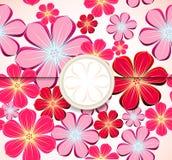 Bloemengroetkaart, uitnodigingsmalplaatje. Vector royalty-vrije illustratie