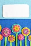 Bloemengroetkaart voor vakantie, verjaardag, Pasen, de dag van Valentine, de dag van de moeder Stock Foto