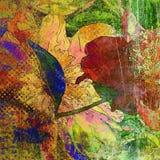 Bloemengrunge grafische achtergrond van de kunst Stock Afbeelding