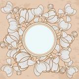Bloemengrunge uitstekende stijl als achtergrond Royalty-vrije Stock Foto's