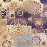 Bloemengrungeachtergrond van de kunst Royalty-vrije Stock Foto's