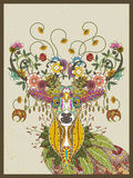 Bloemenherten volwassen kleurende pagina vector illustratie