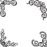 Bloemenhoekenelementen Royalty-vrije Stock Afbeelding