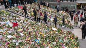 Bloemenhulde in Stockholm stock videobeelden