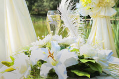 Bloemenhuwelijksdecoratie Royalty-vrije Stock Afbeeldingen
