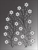 Bloemenillustratie op kleurrijke achtergrond Royalty-vrije Stock Foto's