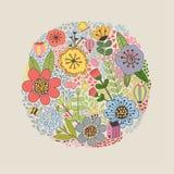 Bloemenkaartmalplaatje Stock Foto's